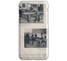 In France two popular trades taught disabled soldiers are cabinet making and tailoring iPhone Case/Skin