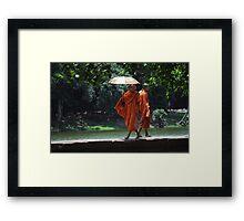 Catwalk Monks Framed Print