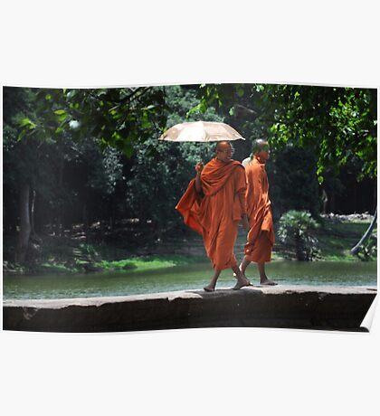 Catwalk Monks Poster