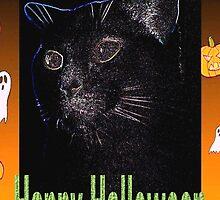 Black cat Halloween card by ♥⊱ B. Randi Bailey