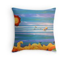 Falling Out Throw Pillow