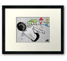 as a child i drew Framed Print
