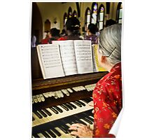 June the Organist Poster