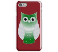 Green Snow Owl iPhone Case/Skin