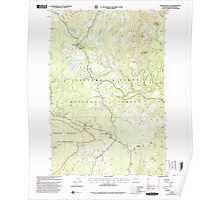 USGS Topo Map Washington State WA Sleeping Beauty 243780 1998 24000 Poster