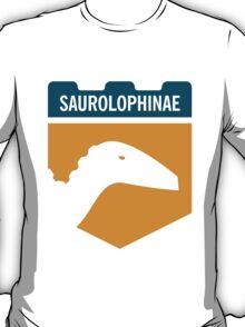 Dinosaur Family Crest: Saurolophinae T-Shirt