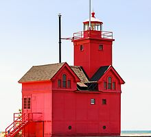 Holland, Michigan Big Red Lighthouse by Kenneth Keifer