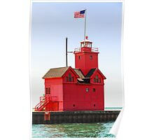 Holland, Michigan Big Red Lighthouse Poster