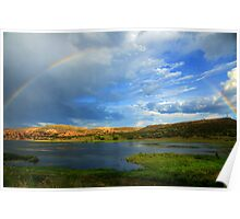 Rainbow Over Watson Lake Poster