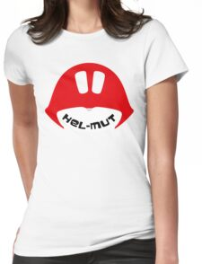 Helmut (Red) Womens Fitted T-Shirt