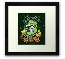Gorilla Vegan Framed Print