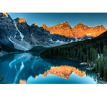 Moraine Lake in the sunrise light Photographic Print