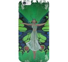 Flutterby Fairy With Leaf Border Isolated iPhone Case/Skin