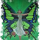Flutterby Fairy With Leaf Border Isolated by taiche