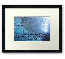 """Isaiah 9:2""  by Carter L. Shepard Framed Print"