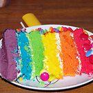 a slice of cake  by janfoster