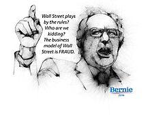 Bernie Sanders Wall street Fraud Photographic Print
