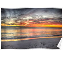 Sunset at Sandy Cape Poster