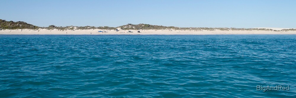 Sandy Cape beach panorama by BigAndRed