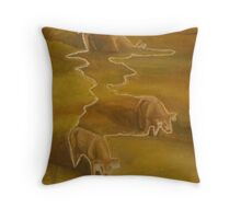 Three calves Throw Pillow