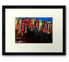 no electricity in the other part Framed Print