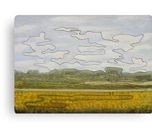 One-line landscape Canvas Print
