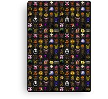 Multiple characters (New set) - Five Nights at Freddy's - Pixel art  Canvas Print