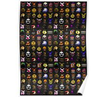 Multiple characters (New set) - Five Nights at Freddy's - Pixel art  Poster