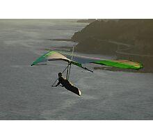 Hang Glider & Sea Winds Bridge, Australia Photographic Print