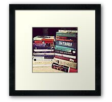 Book Stack Framed Print