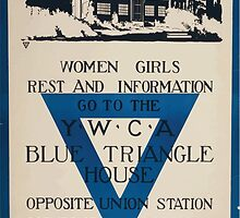 Women girls rest and information go to the YWCA blue triangle house opposite Union Station by wetdryvac
