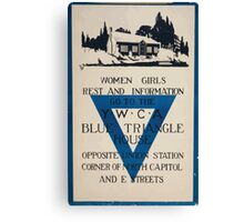 Women girls rest and information go to the YWCA blue triangle house opposite Union Station Canvas Print