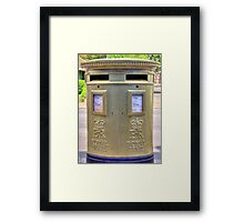 Gold Postbox Framed Print