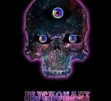 Psychonaut Galaxy Skull by Dark Threads