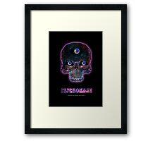 Psychonaut Galaxy Skull Framed Print