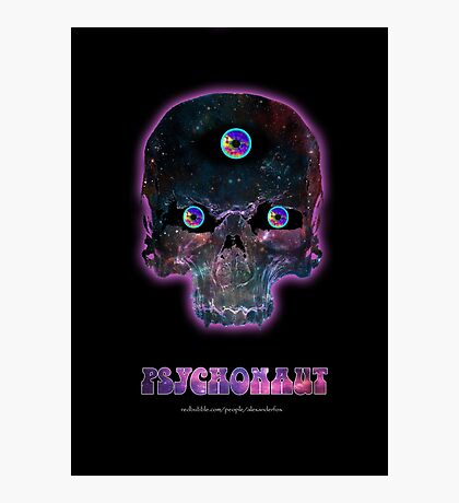 Psychonaut Galaxy Skull Photographic Print