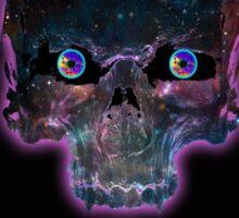 Psychonaut Galaxy Skull Sticker