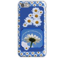 Faith Looks Up ~ Daisies! iPhone Case/Skin