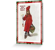 Wishing You Health Wealth and Happiness After Larsson Greeting Card