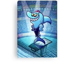 Olympic Swimmer Shark Canvas Print