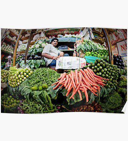 crawford market, India, Mumbai, vegetable Poster