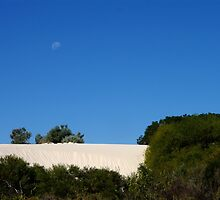 moon rising up over the dunes by BigAndRed