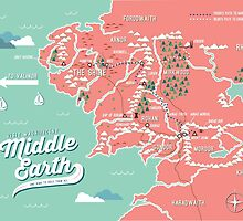 Map of Middle Earth by Tiffany Taimoorazy