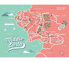Map of Middle Earth Photographic Print