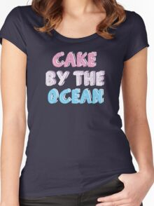 Cake by the Ocean Dark Women's Fitted Scoop T-Shirt