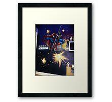 spiderman wall mural Framed Print