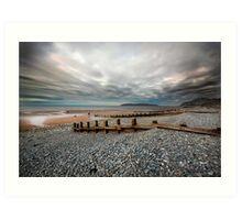 Penmaenmawr Coastline Art Print