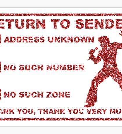 Rock King - Return to Sender Stamp Sticker