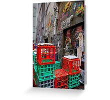 Street Art in Crates - Melbourne, Australia Greeting Card