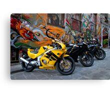 Bike versus Art Canvas Print